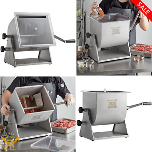 44 Lb Manual Tilting Countertop Meat Mixer With Removable Paddles Durable New