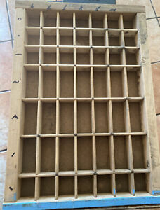 Vintage Printers Type Case Or Drawer End Section Smaller Openings