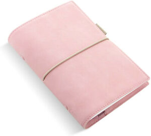 Filofax Domino Soft Personal Organizer Pale Pink slightly Used free Divider