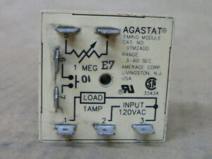 Agastat Vtm2add Time Delay Relay Spst no