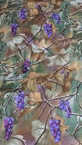 3 Yards Grapes Leaf Print Cotton Fabric By Lauren Lee For Jo Ann 43quot;. $10.99