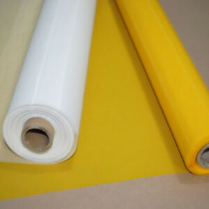 180 Mesh Count 50 Yards Yellow Silk Screen Printing Mesh Fabric 65 Width