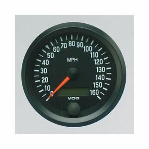 Vdo Cockpit Series Speedometer 0 160 Mph 3 3 8 Dia Electrical 437053