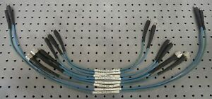 C174286 Lot 8 Amp M a com Testline 18 Test Cables 6 Male Sma 2 Male Type N