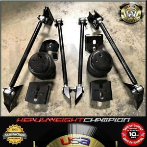 Heavy Duty Triangulated 4 Link Hot Rod Suspension Kit 2600 Air Bags Rear Mount