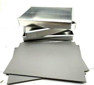 Shallow Stainless Steel Steam Chafing Buffet Hotel Catering W Lids 3 Pans Used