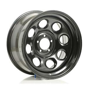 Cragar Soft 8 Black Steel Wheels 17 x9 5x4 5 Bc Set Of 5