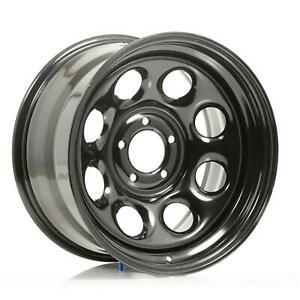 Cragar Soft 8 Black Steel Wheels 17 x9 5x4 75 Bc Set Of 5