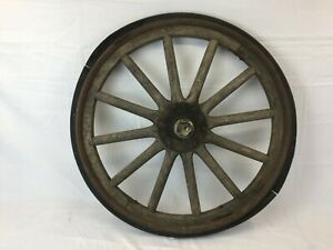 Original Ford Model T Wooden Spoke Wheel Rim With Rubber
