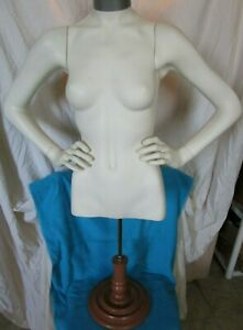 Female Mannequin Upper Torso Dress Form W Stand Clothing Display With Arms