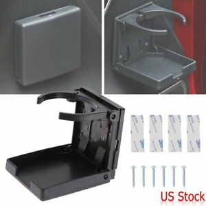 Folding Plastic Drink Cup Holder Black Adjustable Universal For Car Truck Boat