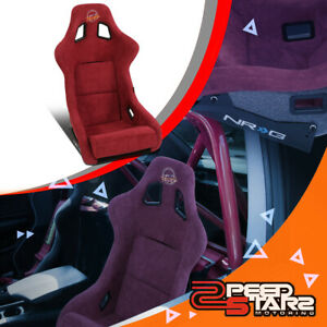 Nrg Innovations Frp 302mar prisma Large Alcantara Racing Bucket Seat side Mount