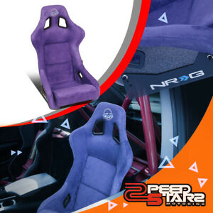 Nrg Innovations Frp 302pp prisma Large Alcantara Racing Bucket Seat side Mount