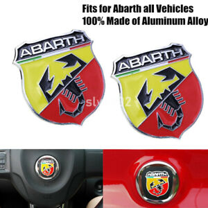 2xmetal Scorpion Trunk Fender Badge Decal Emblem Stickers For Abarth 124 500 695