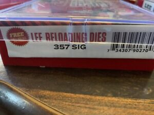 3 die set for 357 sig made by Lee with shell holder not Rcbs or Hornady $67.50