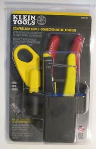 Klein Tools Vdv011 852 Coax Cable Installation Kit W hip Pouch Brand New Sealed