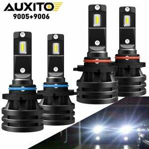 Auxito Led Headlight High Low Beam Bulbs 9005 9006 Combo 6000k Clear White 280w