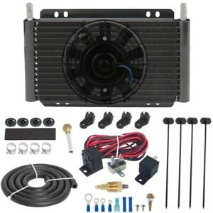 15 Row Engine Transmission Oil Cooler Fan 3 8 Ground 180f Thermostat Switch Kit
