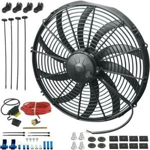 14 Inch 180w Electric Cooling Fan 12v Radiator Probe Thermostat 180f Switch Kit