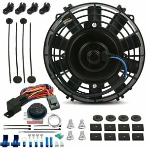 8 Inch Electric Trans Cooling Fan Adjustable Thermostat Temperature Switch Kit