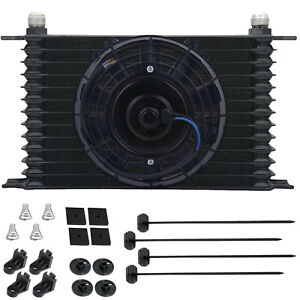 13 Row 10an Auto motive Engine Trans mission Oil Cooler 6 Inch Electric Fan Kit