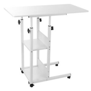 Computer Desk With Wheels Adjustable Laptop Writing Desk Stand Breakfast Tray