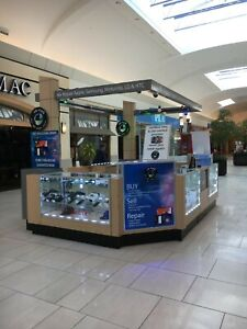 Large Mall Kiosk displays cellphone Kiosk accessories 15 X10 Used Condition