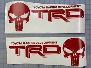 Toyota Trd Truck Off Road Racing Tacoma Tundra Skull Pair 2 Decals Sticker Decal