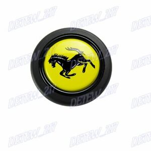 Racing Horn Button For Momo Omp With Ferrari Crest 58mm Steering Wheel Sports