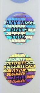 100 To 1000 Custom Svag 20 Mm Round Product Protection Hologram Stickers