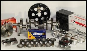 Sbc Chevy 434 Assembly Scat Wiseco 4cc Dome 4 155 Pistons 2pc Rms 350 Mains