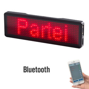 Programmable Scrolling Message Bluetooth Led Digital Tag Sign Usb Rechargeable