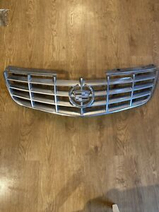 2006 2011 Cadillac Dts Front Upper Complete Grille Grill W Emblem Oem