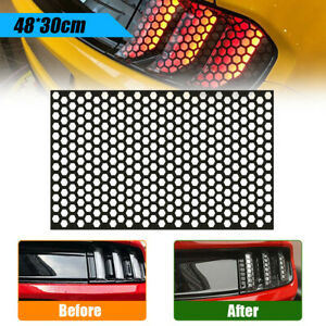 Car Rear Tail Light Honeycomb Sticker Taillight Lamp Cover Decal Diy Decor Black