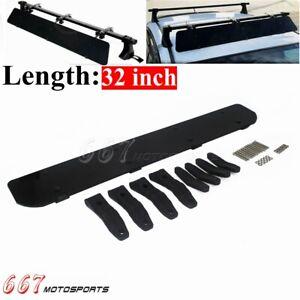 32 Car Roof Rack Wind Fairing Air Deflector Kit Auto Top Cargo Wind Spoiler
