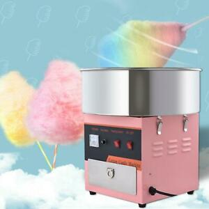 800w Commercial Cotton Candy Machine Sugar Floss Maker Party Electric pink