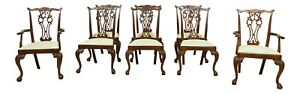 L51579ec Set Of 8 Hickory Chair Co Ball Claw Mahogany Dining Chairs
