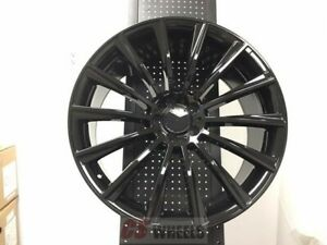 4 Brand New S550 Style 18 Amg Gloss Black Rims Wheels Fits Mercedes Benz