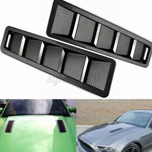 Universal Carbon Look Hood Vent Louver Scoop Cover Air Flow Intake Cooling Panel