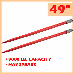 Compact 49 Hay Bale Spikes With 4500lb Capacity For Truck Tractor More 2 Pcs