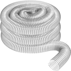 Dust Collector Hose Replacement 4 inch X 20 feet Clear Flexible Self Grounding