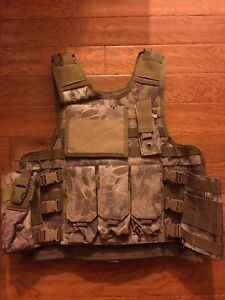 Airsoft Tactical Vest Plate carrier Arid Serpent Complete Setup w Pouches $50.00