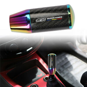 Universal V4 Mugen Neo Carbon Fiber Racing Gear Stick Shift Knob For Mt Manual