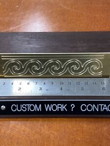 Waves Master Template 1 5 X 7 Solid Brass Engraving Plate For New Hermes Font
