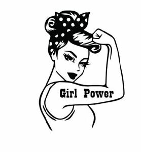 Vinyl Stickers Girl Power Car Truck Decal Laptop Cup Yeti 6 Inc Blk Wht Work