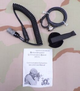 US Army Early SOCOM MICH Helmet Headset Communications Cables new in bag $74.95