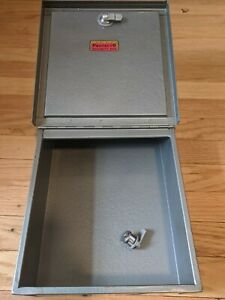 Vintage Deluxe Protecto Security Box New Lock With 2 Keys