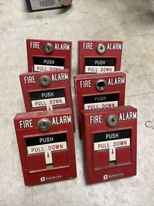 Simplex Fire Alarm Pull Stations Lot Of 6