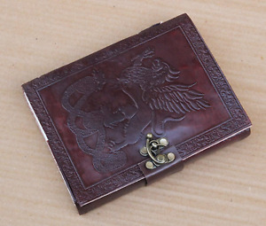 Leather Journal Notebook Diary For Writing Sketching Blank Hand Made Dark Brown
