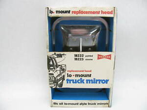 Vintage 7x10 Truck Van Chrome Side View Lo mount Mirror Head Yankee 1b223